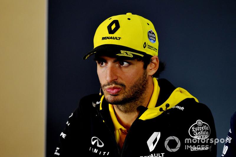 Carlos Sainz Jr., Renault Sport F1 Team en la conferencia de prensa