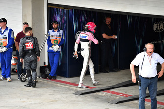 Esteban Ocon, Racing Point Force India in Parc Ferme