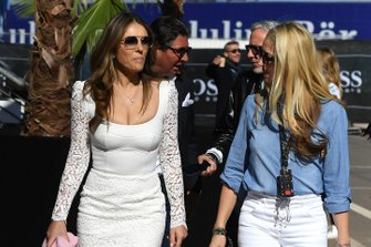 Actress Elizabeth Hurley visits the Paddock