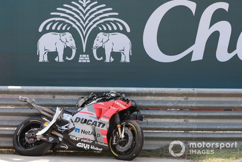Мотоцикл Хорхе Лоренсо, Ducati Team, після аварії