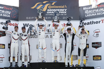 #912 Porsche Team North America Porsche 911 RSR, GTLM: Laurens Vanthoor, Earl Bamber, #25 BMW Team RLL BMW M8, GTLM: Alexander Sims, Connor de Phillippi, podium, #3 Corvette Racing Chevrolet Corvette C7.R, GTLM: Antonio Garcia, Jan Magnussen, podium