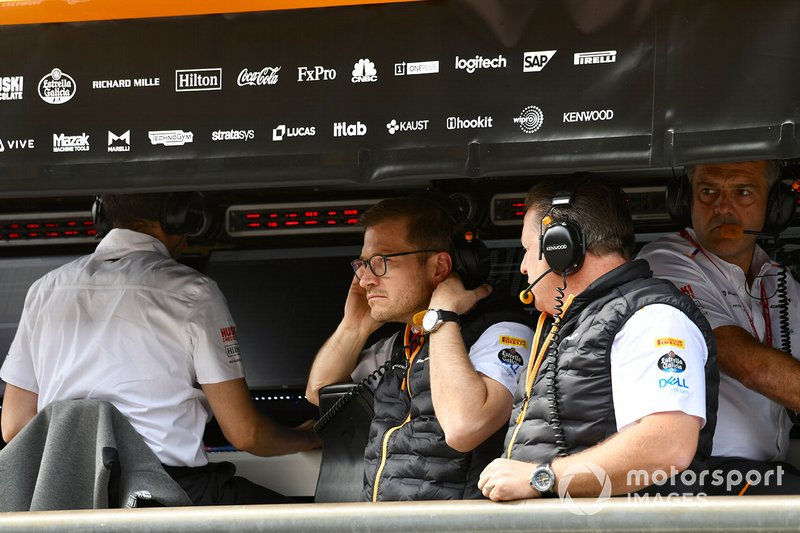 Andreas Seidl, Zak Brown,