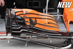 McLaren MCL32'nin detaylı yeni ön kanadı