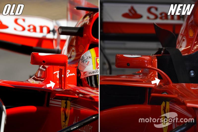 Ferrari SF70H mirrors
