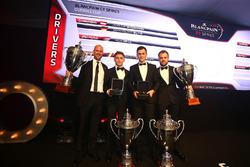 2016 Drivers, Dominik Baumann, Maximilian Buhk, champions, Rob Bell, 2nd place, Laurens Vanthoor, 3rd place