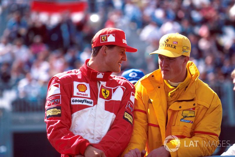 Michael Schumacher, Ferrari F310B ve Ralf Schumacher, Jordan 197