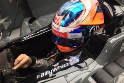 Romain Grosjean, Haas F1 Team VF-17 avec des stickers #BillyWhizz