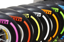 The full selection of Pirelli tyre compounds