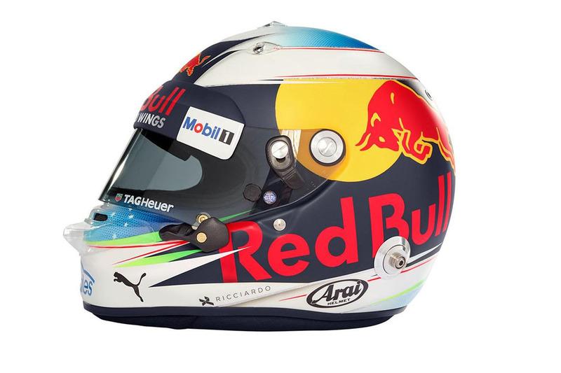 Шлем Даниэля Риккардо, Red Bull Racing