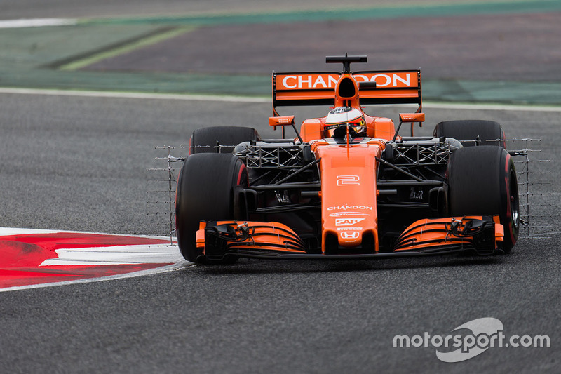 Stoffel Vandoorne, McLaren MCL32 funcionamiento equipo de sensor