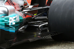 Mercedes AMG F1 W08 floor diffuser detail