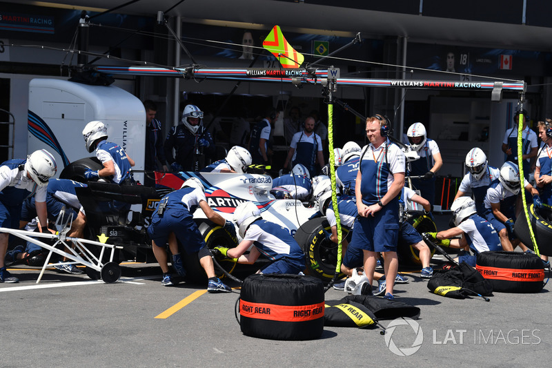 Boxenstopp: Lance Stroll, Williams FW40