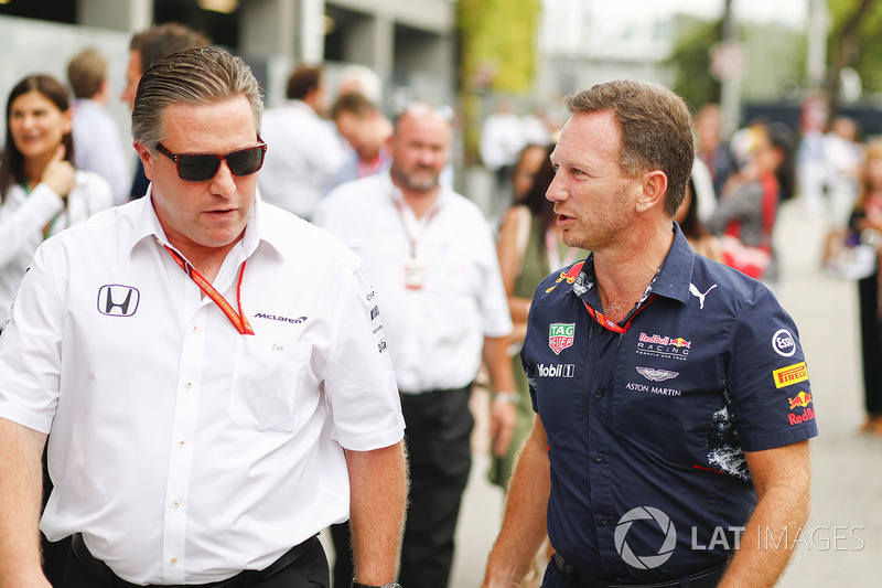 Zak Brown, McLaren-Chef, Christian Horner, Red-Bull-Teamchef