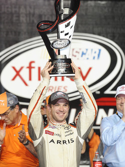 2016 Champion and race winner Daniel Suarez, Joe Gibbs Racing Toyota