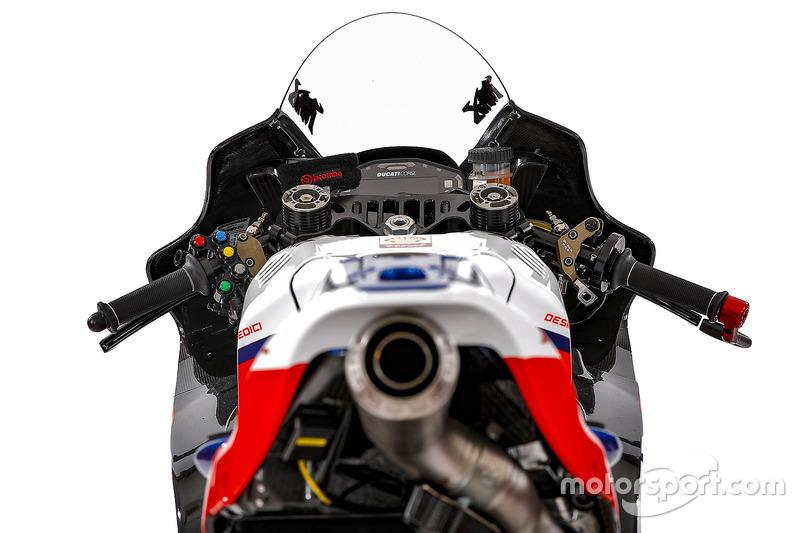 Detalle de la moto de Danilo Petrucci, Octo Pramac Racing