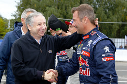 Jean Todt, FIA President with Sebastien Loeb, Team Peugeot-Hansen, Peugeot 208 WRX