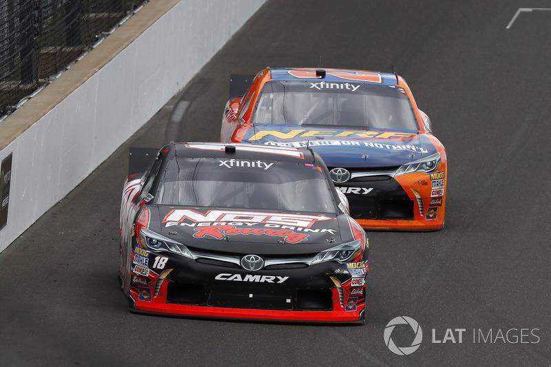 Kyle Busch, Joe Gibbs Racing Toyota Erik Jones, Joe Gibbs Racing Toyota