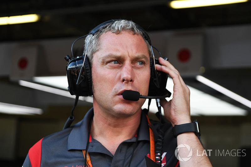 Stuart Cramp jefe de mecánicos de Haas F1 Team