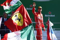 Podium: 3. Sebastian Vettel, Ferrari SF70H