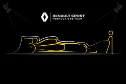 Teaser für die Präsentation Renault F1 Team
