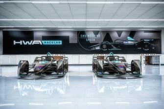 La decoración del equipo HWA Racelab de Fórmula E