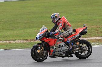 La scivolata di Andrea Dovizioso, Ducati Team