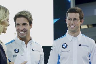 Alexander Sims, Antonio Felix da Costa, avec Nicki Shields à la présentation de la BMW iFE.18