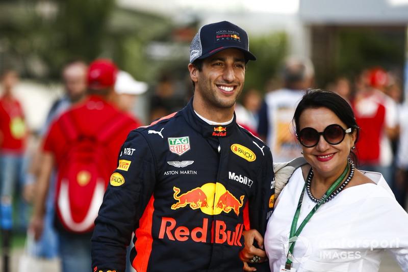 Daniel Ricciardo, Red Bull Racing, avec un fan