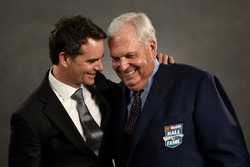 NASCAR Hall of Fame inductee Rick Hendrick and former NASCAR driver Jeff Gordon