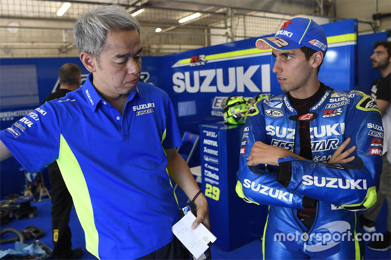 Сініті Сахара, керівник проекту Team Suzuki MotoGP, Алекс Рінс, Team Suzuki MotoGP