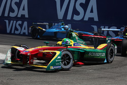 Lucas di Grassi, ABT Schaeffler Audi Sport, leads Nicolas Prost, Renault e.Dams