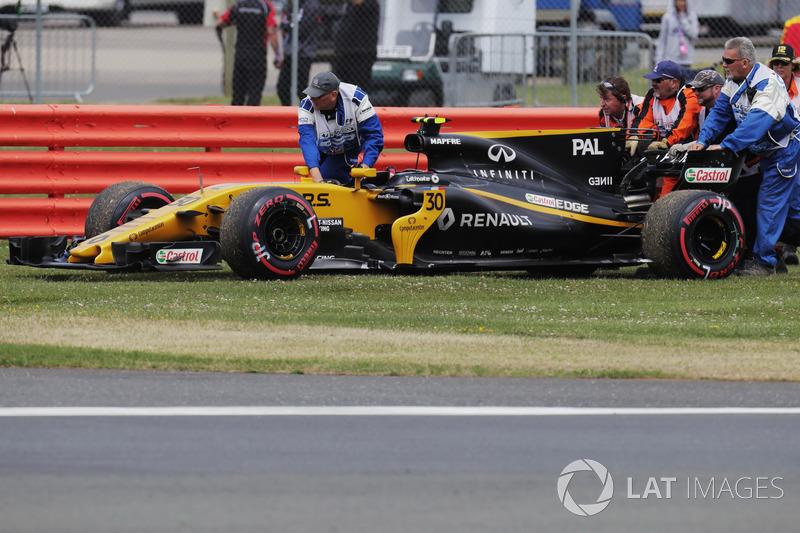 Oficiales retiran el coche de Jolyon Palmer Renault Sport F1 Team RS17