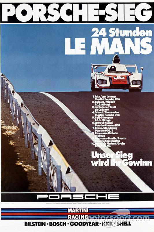Poster: Porsche-Sieg bei den 24h Le Mans 1976