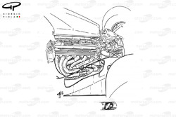 Ferrari F1-91 (642) 1991 engine packaging