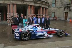Portland Indycar aankondiging in het stadhuis
