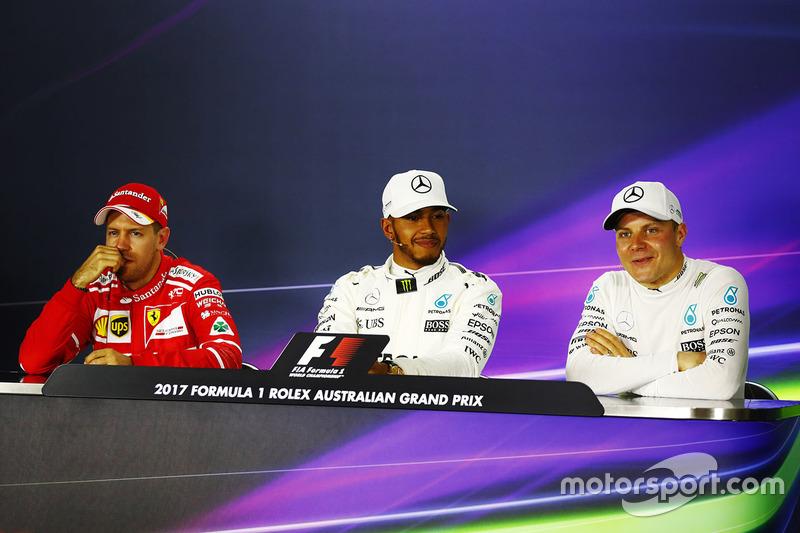 Sebastian Vettel, Ferrari, Lewis Hamilton, Mercedes AMG, Valtteri Bottas, Mercedes AMG