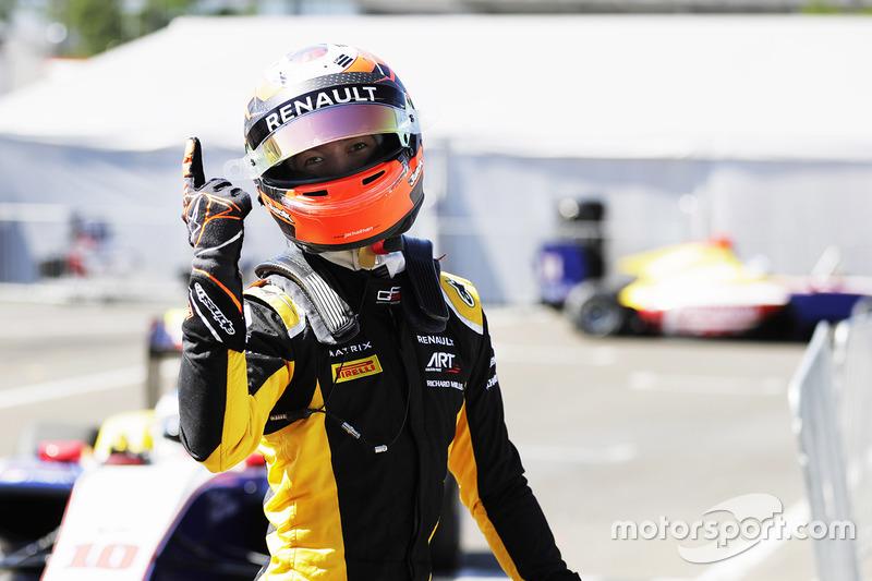 Ganador de la pole Jack Aitken, ART Grand Prix