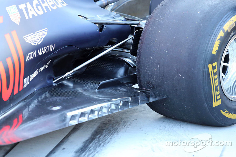 Red Bull Racing RB13 floor detail