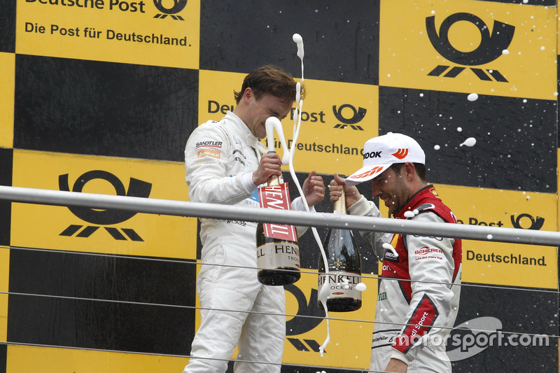 Podium: Lucas Auer, Mercedes-AMG Team HWA, Mercedes-AMG C63 DTM and Mike Rockenfeller, Audi Sport Team Phoenix, Audi RS 5 DTM