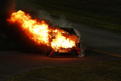 Martin Truex Jr., Furniture Row Racing Toyota, crash