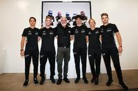 I piloti dello Scholarship Programme Porsche Italia: Alessio Rovera, Gianmarco Quaresmini, Francesca LInossi, Daniele Cazzaniga, Riccardo Pera