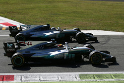 Winner Lewis Hamilton, Mercedes AMG F1 W08, second place Valtteri Bottas, Mercedes AMG F1 W08