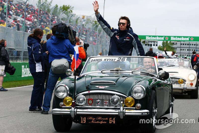 Данііл Квят, Scuderia Toro Rosso на параді пілотів