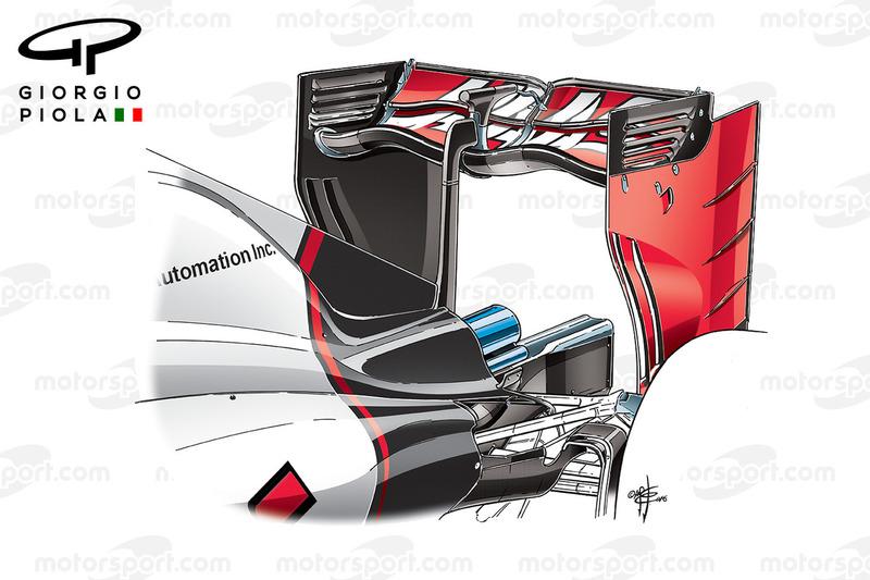 Heckflügel Haas VF-16, GP von Italien