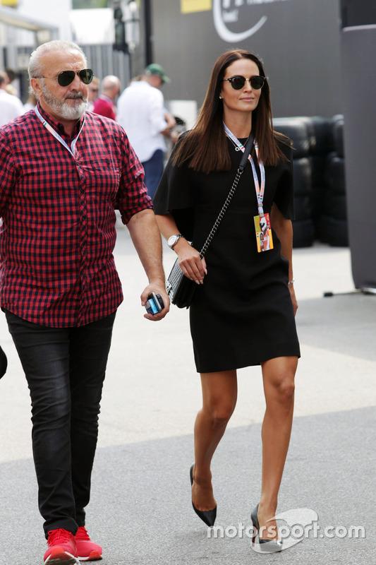 Minttu Raikkonen,, wife of Kimi Raikkonen, Ferrari