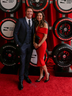 Scott Dixon, Chip Ganassi Racing Chevrolet and wife Emma