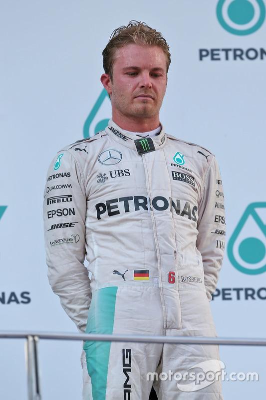Third place Nico Rosberg, Mercedes AMG F1 on the podium