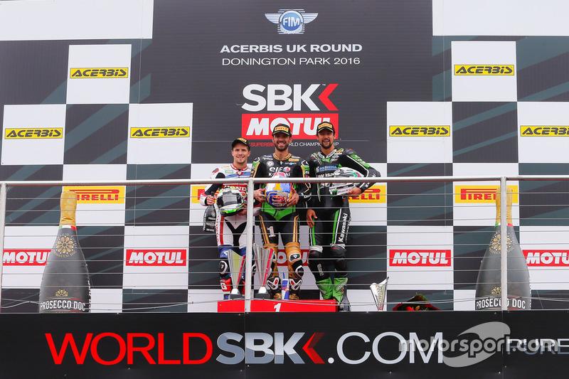 Podium :  Sieger Kenan Sofuoglu, Kawasaki Puccetti Racing, 2. PJ Jacobsen, Honda World Supersport Team, 3. Randy Krummenacher, Kawasaki Puccetti Racing