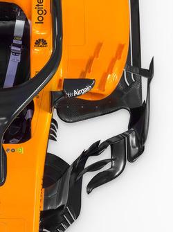 McLaren MCL33 sidepod detail
