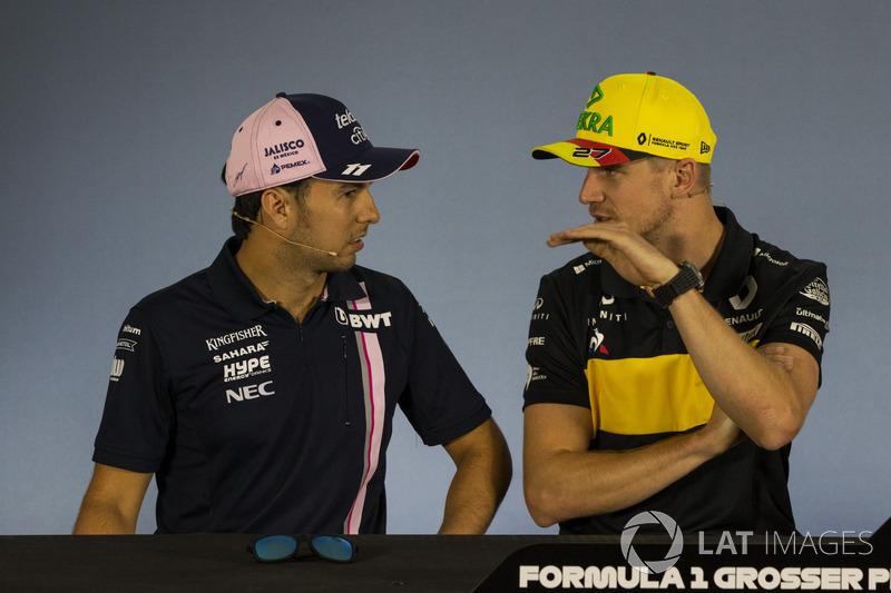 Серхіо Перес, Force India, Ніко Хюлькенберг, Renault Sport F1 Team